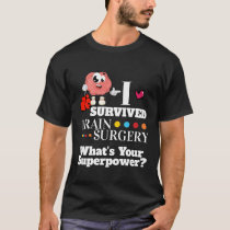 Brain surgery survivor cartoon boxing gloves TBI T-Shirt