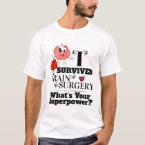 Brain surgery survivor cartoon with boxing gloves T-Shirt