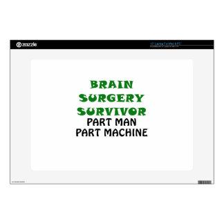 Brain Surgery Survivor Part Man Part Machine Decals For Laptops