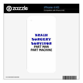 Brain Surgery Survivor Part Man Part Machine Skins For The iPhone 4