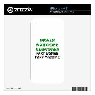 Brain Surgery Survivor Part Woman Part Machine iPhone 4S Skin