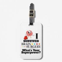 Brain surgery survivor superpower comic gloves luggage tag