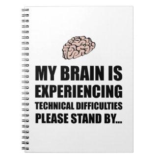 Brain Technical Difficulties Spiral Notebook