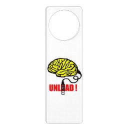 Brain to unload door hanger