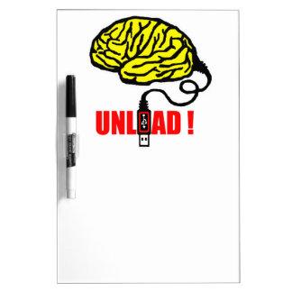 Brain to unload Dry-Erase board