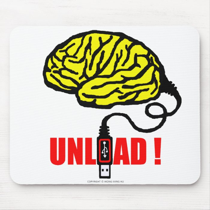 Brain to unload mouse pad