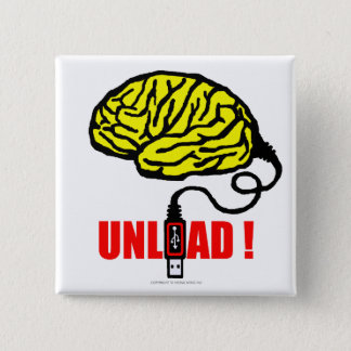 Brain to unload pinback button