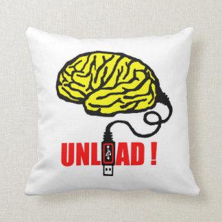 Brain to unload throw pillow
