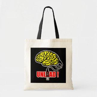 Brain to unload tote bag
