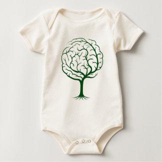 Brain tree illustration baby bodysuit