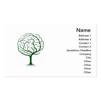 Brain tree illustration business card templates