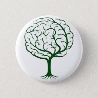 Brain tree illustration pinback button