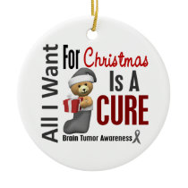 Brain Tumor All I Want For Christmas Ornaments