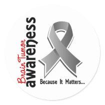 Brain Tumor Awareness 5 Classic Round Sticker