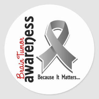 Brain Tumor Awareness 5 Classic Round Sticker