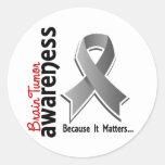 Brain Tumor Awareness 5 Round Stickers