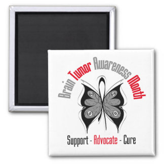 Brain Tumor Awareness Month Butterfly Magnets