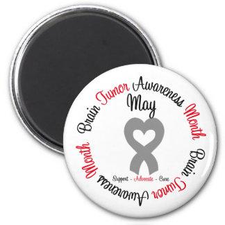 Brain Tumor Awareness Month Heart Fridge Magnets