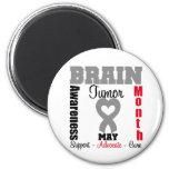 Brain Tumor Awareness Month Heart Ribbon Refrigerator Magnet