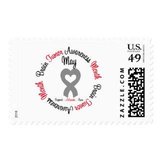Brain Tumor Awareness Month Heart Stamp