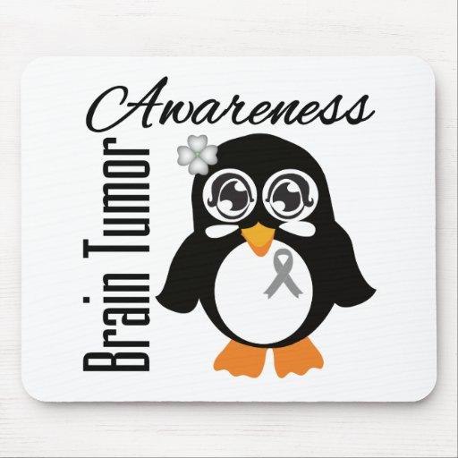 Brain Tumor Awareness Penguin Mouse Pad