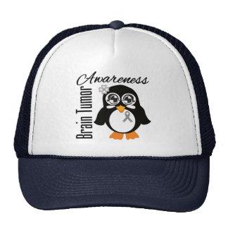 Brain Tumor Awareness Penguin Trucker Hat