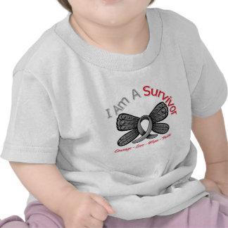 Brain Tumor Butterfly I Am A Survivor Shirt