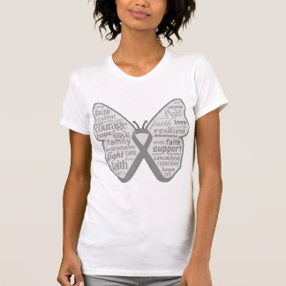 Brain Tumor Butterfly Ribbon T Shirts