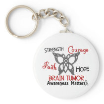 Brain Tumor Celtic Butterfly 3 Keychain