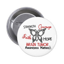Brain Tumor Celtic Butterfly 3 Pinback Button