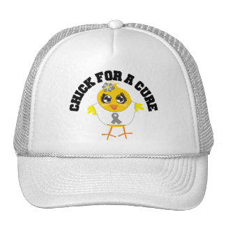 Brain Tumor Chick For A Cure Trucker Hats