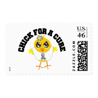 Brain Tumor Chick For A Cure Stamp