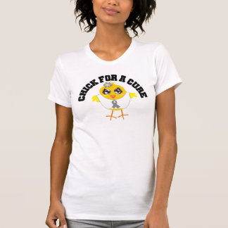 Brain Tumor Chick For A Cure Tees