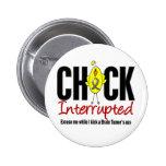 Brain Tumor Chick Interrupted 2 Inch Round Button