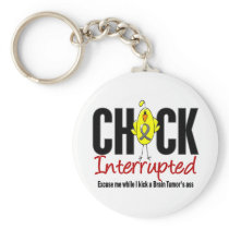 Brain Tumor Chick Interrupted Keychain