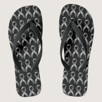 Brain Tumor | Diabetes | Grey Ribbon Flip Flops