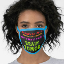Brain Tumor Face Mask