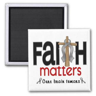 Brain Tumor Faith Matters Cross 1 Fridge Magnets