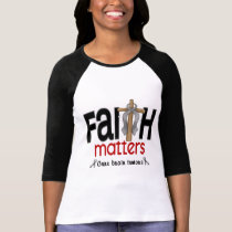 Brain Tumor Faith Matters Cross 1 T-Shirt