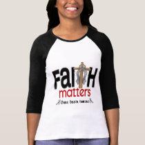 Brain Tumor Faith Matters Cross 1 T-Shirt