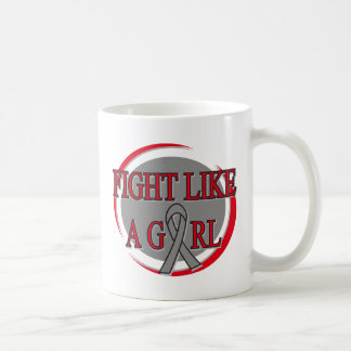 Brain Tumor Fight Like A Girl Circular Coffee Mugs