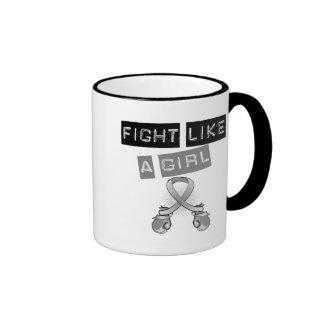 Brain Tumor Fight Like A Girl Coffee Mugs