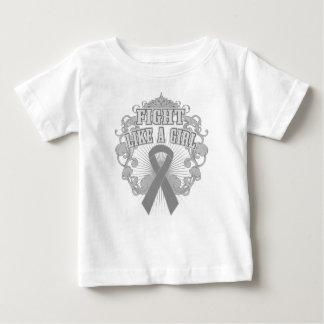 Brain Tumor Fight Like A Girl Fleurish Tee Shirts