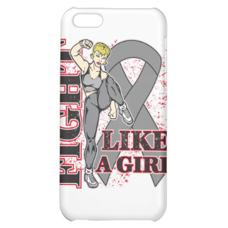 Brain Tumor Fight Like A Girl Kickin Butt iPhone 5C Covers