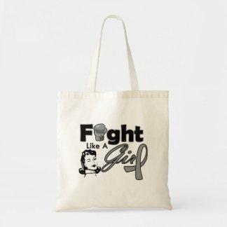 Brain Tumor Fight Like A Girl - Retro Girl Tote Bag