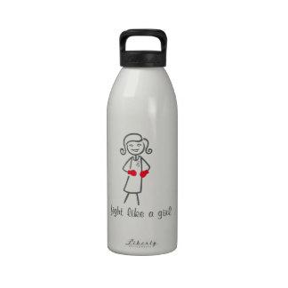 Brain Tumor Fight Like A Girl (Retro) Drinking Bottles