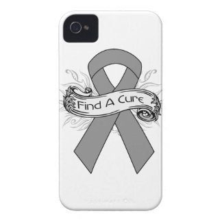 Brain Tumor  Find A Cure Ribbon Case-Mate iPhone 4 Cases