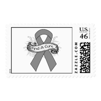 Brain Tumor Find A Cure Ribbon Stamps