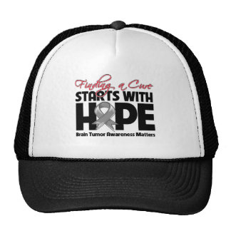 Brain Tumor Finding a Cure Starts With Hope Hats