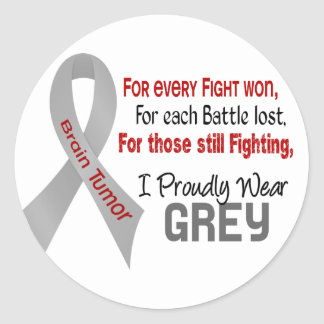 Brain Tumor For Every…..I Proudly Wear Grey 1 Classic Round Sticker